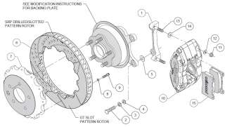 WILWOOD DISC BRAKE KIT,09 11 NISSAN 370 Z,08 11 INFINITI G37,07 08 G35