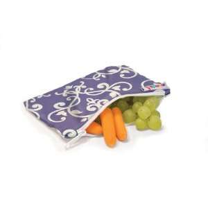 Munchkin 3 Pack Snack Bags, Green/Black/Purple Baby