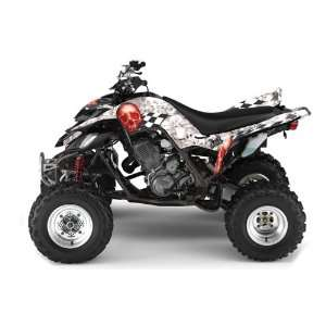 AMR Racing Yamaha Raptor 660 ATV Quad Graphic Kit   Checkered Skull
