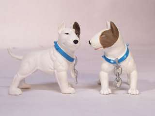 White English Bull Terrier Dog 2 Figurine Figure NEW