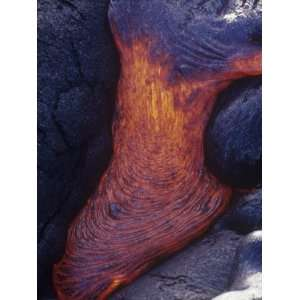 Lava Flow Kilauea Volcano Hawaii Volcanoes National Park, Hawaii
