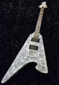 Hand painted custom Flying V style Heavy Metal rock guitar body neck
