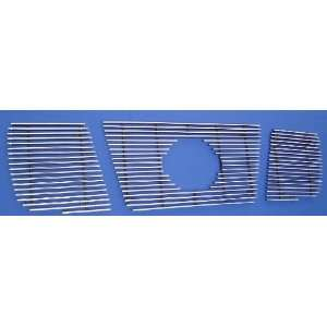 07 Nissan Titan Armada 3PC Upper Billet Grille (Logo Show) Automotive