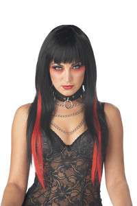 Chopstix Halloween Costume Wig  Black/Red