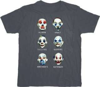 Batman Dark Knight Goon Clown Masks Gray T shirt Tee