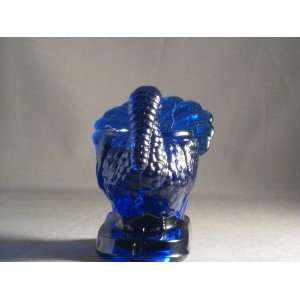 Cobalt Blue Glass Turkey Toothpick Holder