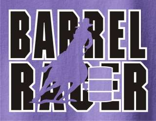 Barrel Racing Horse and Rider T Shirt   Pick Your Color