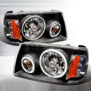 2001 2004 Ford Ranger CCFL Halo Euro Headlights Black