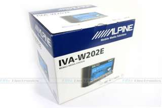 ALPINE IVA W202E DOUBLE DIN CAR DVD STEREO IPOD PLAYER