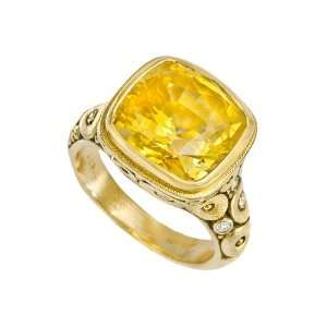 Alex Sepkus Orchard Yellow Sapphire Ring with Diamond