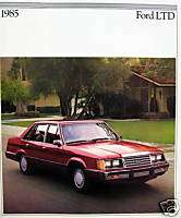 1985 Ford LTD sedan/wagon new vehicle brochure