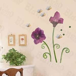 Bees & Flowers   Large Wall Decals Stickers Appliques Home