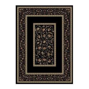 Concord Global Rugs Ankara Collection Floral Border Black