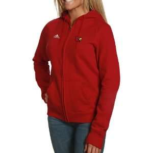 adidas Louisville Cardinals Ladies Red Primary Logo Full
