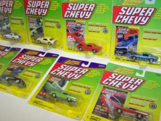 SUPER CHEVY Die Cast Cars LOT SET NEW Camaro Real Wheels 2000