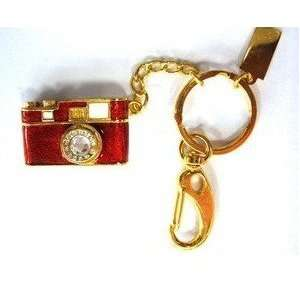 8GB Beautiful Red Brown Crystal Camera Style USB Flash