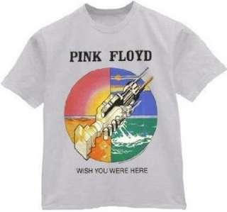 Pink Floyd T shirt Wish You Were Here silver grey tee