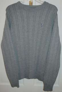 POLO ASSN MENS GREY CREWNECK SWEATER SZ LARGE NEW