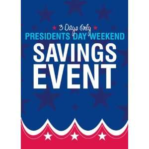 Presidents Day Event Red White Blue Sign