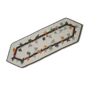 Falling Leaves Table Runner Short 16 x 54 In.  Kitchen