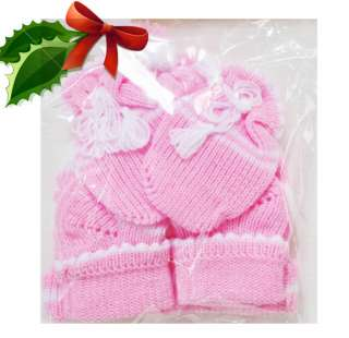 Christmas Gifts New MOM&ME Set NEWBORN INFANT BABY Gloves Socks Hats 0
