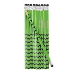 24 Personalized Green Pencils   Basic School Supplies & Pencils