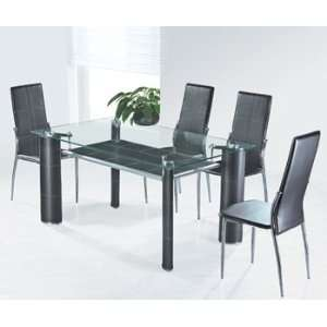 Modern Glass Dining/Coffee Table SET   DC 6203BK