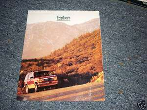 1992 FORD EXPLORER DEALERSHIP SALES BROCHURE ORIGINAL