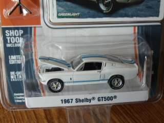 Greenlight MUSCLE 1967 Ford Mustang GT500 white w/blue stripes