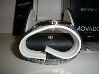 MOVADO JURO 0605721 stainless steel watch with diamonds