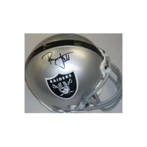 Ronnie Lott autographed Los Angeles Raiders Mini Helmet