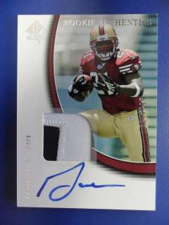 2005 SP AUTHENTIC FRANK GORE AUTO PATCH ROOKIE RC CARD SF 49ERS #d