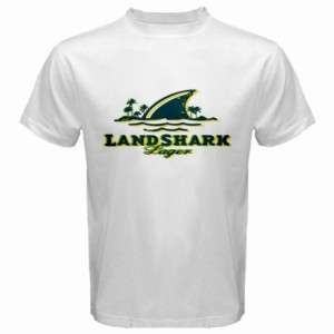landshark beer Logo New White T Shirt