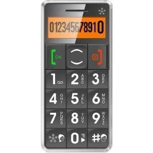 ELDERLY/SENIOR CELL PHONE LARGE BUTTON KEYPAD W/SOS GRY CELL. Gray