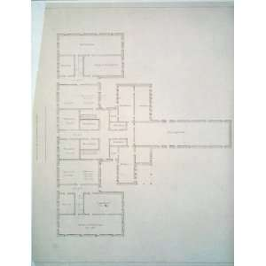 building. Floor plan,1830 1860,Architectural drawing