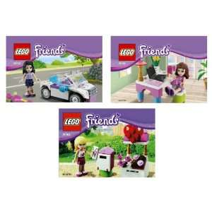 Lego Friends 30102 Olivias Laptop & Desk, 30103 Emmas