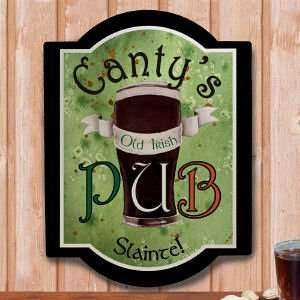 Personalized Old Irish Pub Wall Sign