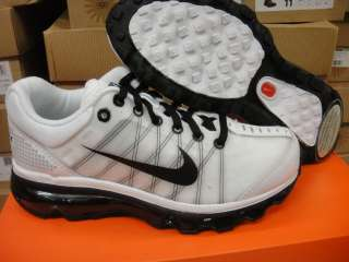Nike Air Max 2009 White Black Grey Sneakers Kids Sz 7