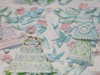 Vintage Wedding Bell Cake Lace Gift Wrap Wrapping Paper T29
