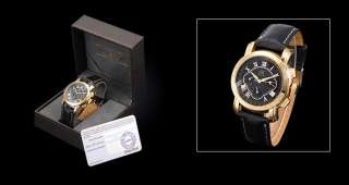 AK Homme 6 Hands Automatic Mechanical Nightvision Golden Case Mens