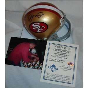 Joe Montana Signed Mini Helmet   Sf