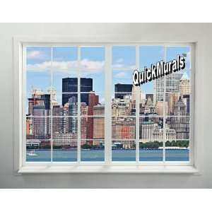 New York City Skyline Window #1 Peel & Stick Wall Mural 54