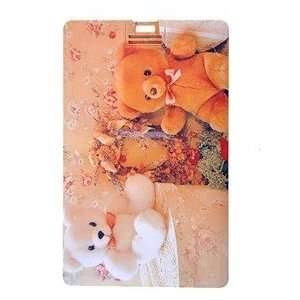 4GB Lovely Teddy Bear Double Sided Pattern Credit Card