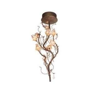 ET2 E22046 20 Crystal Flora Tropical / Safari Semi Flush