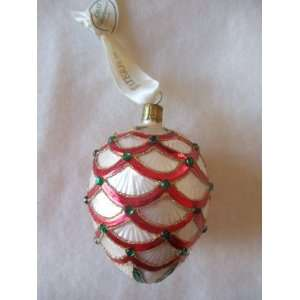 Waterford Holiday Heirlooms Jeweled Pine Cone Christmas Ornament Home