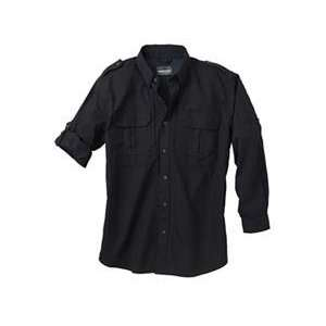 New   Woolrich Mens Long Sleeve Shirt Blk Med   44902 BK