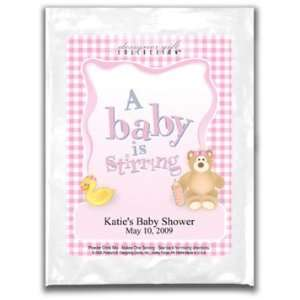 Baby Shower Cosmopolitan Mix Favors  Gingham Pink Personalized