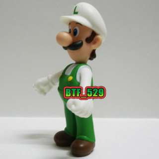 New Super Mario Brothers Action Figure  Fire Luigi