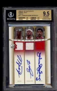 2006 SP Auth Michael Jordan Lebron James Erving JERSEY AUTO /15 BGS 9
