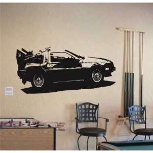 MURAL Vinyl Sticker Car DE LOREAN FUTURE SPORT 006